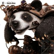 Steampunk Motorbike Panda Resin H10inch Collection Action Figures