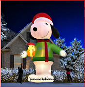 Colossal 16and039 Inflatable Snoopy +woodstock C7 Interior Lights Christmas Yard