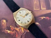 14k Gold Bulova Accutron Electronic Cal. 2182 Day/date 33.5mm Vintage Watch