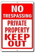 No Trespassing Private Property Keep Out Aluminum Metal Sign 3 Sizes Available