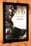 Ryse Son Of Rome Xbox One Rare Small Poster / Ad Page Framed