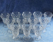 12 Vtg. Fostoria Crystal American 5.5 Low Water Goblets- 2056 026 003- Minty