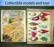 Vintage Soviet Christmas Toys Set Of Vegetables In A Box 14 Pieces 1950-1970