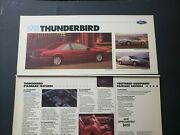 1991 Ford Thunderbird Dealer Showroom Poster Print Display Lx Super Coupe Rare
