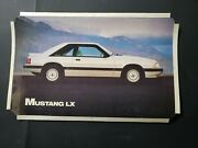 Ford Mustang Dealer Showroom Poster Print Display Lx Art Rare 80and039s 90and039s