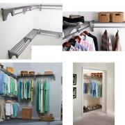 18 Ft. Steel Closet Organizer Kit With 3-expandable Shelf And Rod Units In Silve