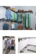 30 Ft. Steel Closet Organizer Kit With 5-expandable Shelf And Rod Units In Silve
