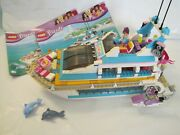 Complete Lego Friends 41015 Yacht Dolphin Cruiser With Instructions Ship Boat
