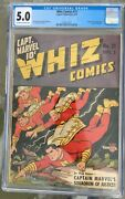 Whiz Comics 21 1941 Cgc 5.0 -- O/w To White Pages 1st And Origin Lt. Marvels