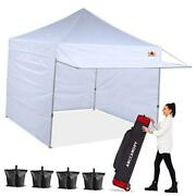 Canopy Tent 10 X 10 Pop-up Instant Shelters Commercial Portable 10x10 White