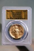 2015-w 100 Gold Pcgs Ms70 American Liberty High Relief 1 Oz