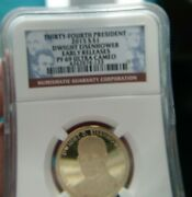2015-s President Dwight Eisenhower Early Release Ngc Pf69 Ultra Cameo 1799