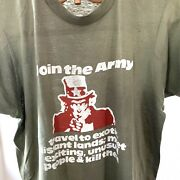 Vtg 70s 80s Us Army T Shirt Motorcycle Military M Uncle Sam Thin Biker Trucker