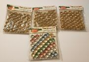 4 Packages Vtg Shiny Brite Gold Multicolored Garland Made In Japan