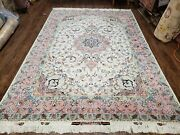 7x10 Authentic Handmade Rug Wool Silk Accent Rug Top Quality 325 Kpsi 6and0398 X 10and039