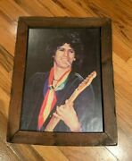 Keith Richards Old-school Framed Picture 19x14.5 - Rolling Stones - 1980s
