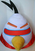Angry Birds Space Purple Chuck Lazer Bird With Red Cape Plush 22 With Sound