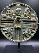 Old Antique Ancient Gandhara Art Schist Stone Cosmetic Tray