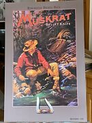 Remington Bullet Knife Poster Muskrat A Pack Of Trouble By Bruce Wolfe