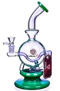 Chill Glass 10 Shperical Base Recycler Bong Glass Water Pipe Unique Hookahusa