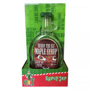Buddy The Elf Wood Grain Maple Syrup Jar By Icup - Great On Paste - Santa Claus