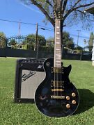 Custom Hand Built Les Paul With Emg H4/h4a Gold Pickups Made To Order