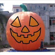 26ft Inflatable Pumpkin Halloween Jack O Lantern Holiday With Blower Ax