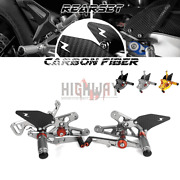 Carbon Fiber And Cnc Rear Set Footrest Pegs Rearset For Bmw S1000rr 15-18