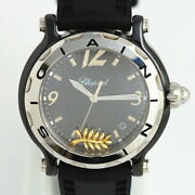 Chopard Happy Sport 28 8507 Ceramic Rubber Menand039s Watch Limited Edition 1000 Used