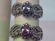 Color Change Ring Size 7 Alexandrite Antique Filigree 925 Sterling Silver Usa