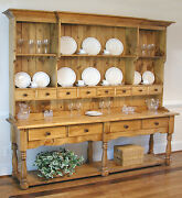 Large Pine French Farmhouse Wide Hutch Beaded Board Back A Classic Made In Usa