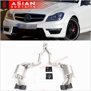 Valved Exhaust Catback For Mercedes Benz C Class W204 C63 Amg 2012 - 2015 6.2