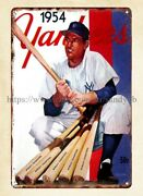 Cool Signs Sale Baseball 1954 New York Yankees Yearbook Cover Metal Tin Sign