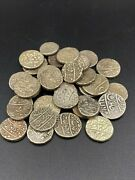 Lot Of Old Antique Ancient Islamic Silver Mughal Empire 17th-18th Coins India