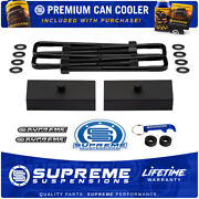 1 Rear Lift Blocks + Flat Top Steel U-bolts For 95-20 Tacoma / 99-06 Tundra