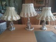 Dresden Porcelain Lace Figurine S Whit Lamp