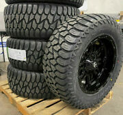 20x10 Fuel Hostage 35 At Black Wheels Tires Package 5x5 Jeep Gladiator Jt