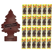 Leather Scented Little Trees Hanging Car Air Fresheners 24pk New And Sealed