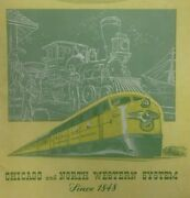 1948 Chicago Northwestern System Railroad Train Illinois Booklet Pictures Map