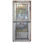 Antique American Stained And Leaded Glass Window Sash Set C. 1910 Nsg234