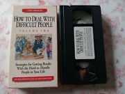 How To Deal With Difficult People Vol. 2 Vhs Rick Brinkman + Rick Kirschner