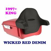 Wicked Red Denim King Tour Pack Pak For 1997-2020 Harley Touring Electra Glide