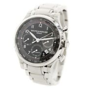 Baume And Mercier Capeland Chrono Watch Menand039s Automatic Black Dial Silver Moa10062
