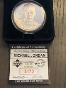 Michael Jordan 1oz Silver Coin The Highland Mint 1/7500 Limited Edition