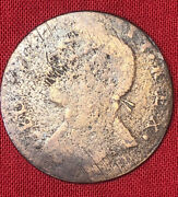 1752 Crude George Ii Simian Non-regal Colonial Rare Halfpenny Us Great Coin