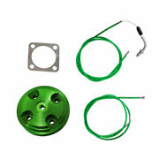 Green Cnc Cylinder Head Cover And Throttle Line For 80cc Motorized Bicycle