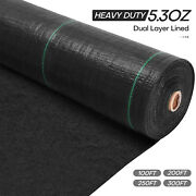 4ft W. Weed Barrier Fabric Garden Landscape Thicken Dual Layer Gound Cover 5.3oz