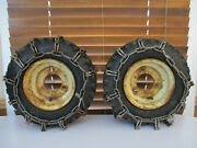 Pair Of Vintage Ariens Snowblower Tires With Chains