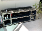 Handmade Bone Inlay Floral Tv Unit Entertainment Cabinet