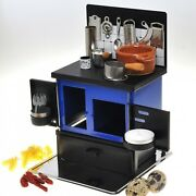 K's Collection Miniature Kitchen Stoves Blue Hand Made Toy